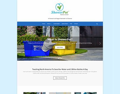 ShowerPot.org Web Design and WordPress Build
