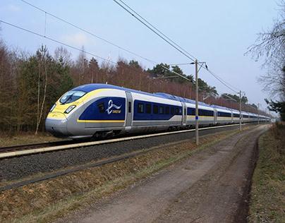 The Eurostar e320 in motion