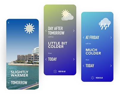 Relative Weather AR app