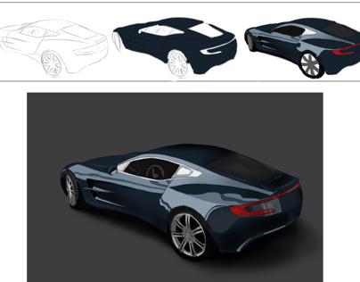 Digital Rendering - Vehicles