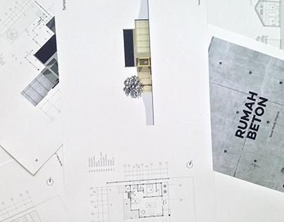 [RUMAH BETON] Perancangan Arsitektur 1