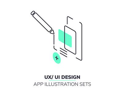 UX/ UI Design :: APP Illustration sets