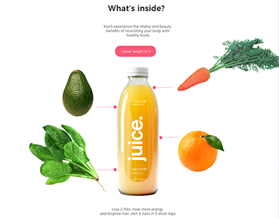 Detox product landing page