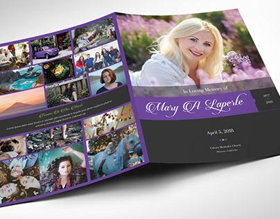 Remember Purple Funeral Program Word