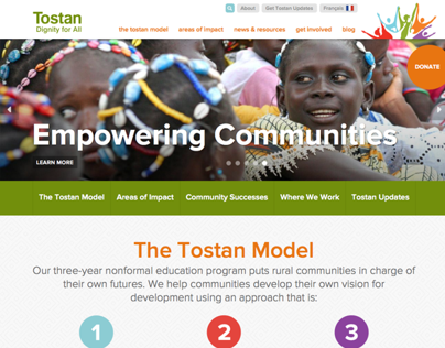 Tostan.org Community Development Nonprofit Website
