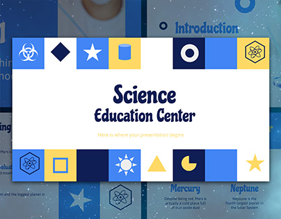 Blue colorful science - free Google Slides Template