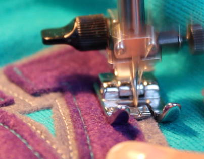 Sewing text on sweatshirts