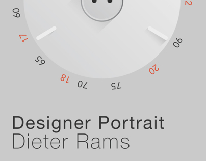 A portrait poster of Dieter Rams