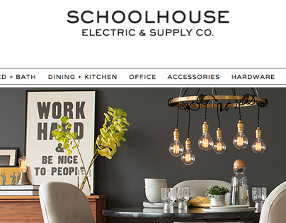 Schoolhouse Electric web site design