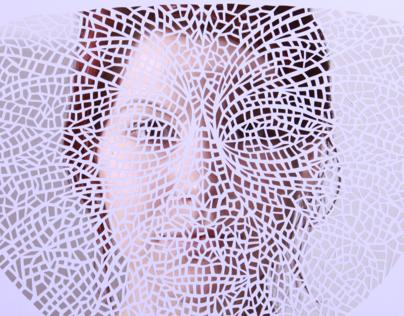 Doppelgänger - papercut mask