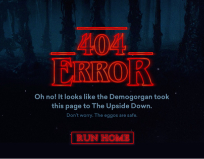 "404 Page: ""Stranger Things"""