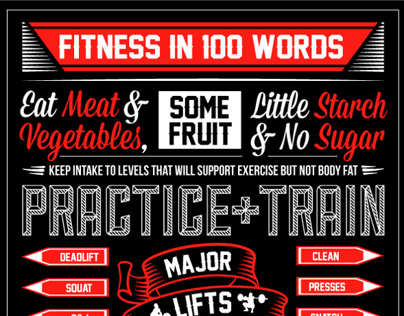 100 Words Of Fitness Crossfit On Behance