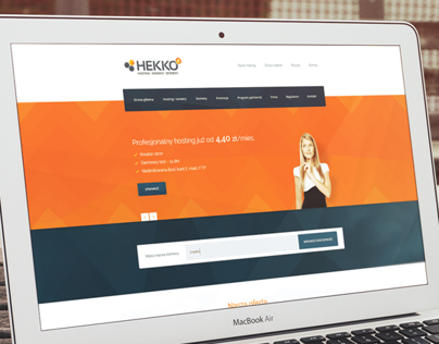 Hekko - hosting company redesign