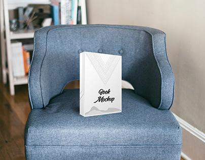 Realistic Living Room Book Mockup