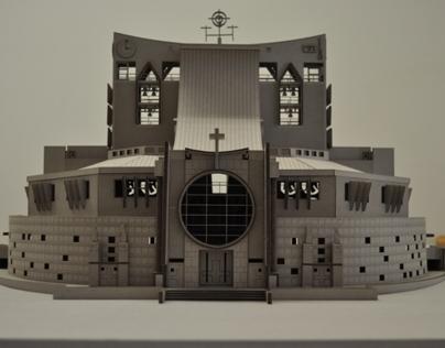 Model of the New Church Cristo-Rei, Almada