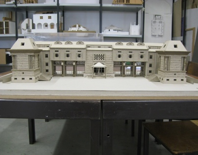 Model of the existent building of Cristo-Rei Shrine
