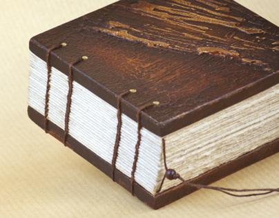 Mixed Media Book Art - Wooden Cube