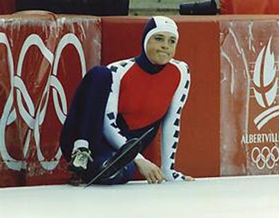 Olymp. Spelen '92 Albertville, val Yvonne van Gennip