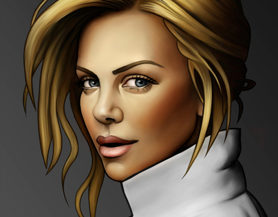 Just Charlize (digital painting)