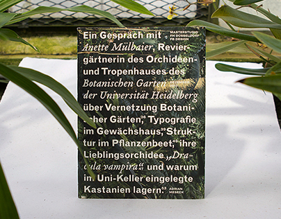 Interview at the Botanical Garden Heidelberg