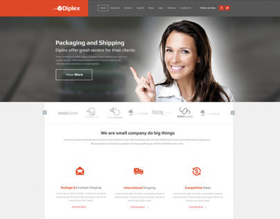 Packaging And Shipping Web Design