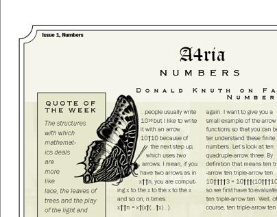 A4ria - a Single Page Gazette
