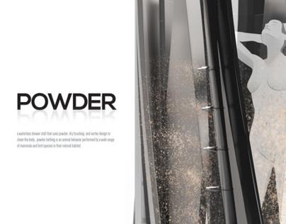 POWDER- waterless shower stall