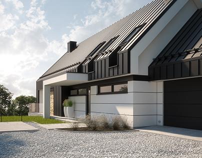 MODERN SINGLE-FAMILY HOUSE, (vis. for lk-projekt.pl)