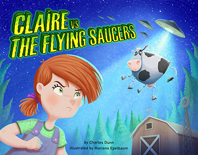 Claire vs the flying saucers´s book, by Charles Dunn