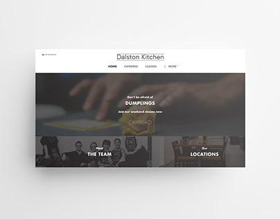 Dalston Kitchen Website Concept