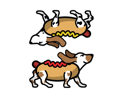A couple of hot dogs