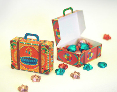 Colorful Suitcases: Set of 2 DIY Paper Boxes