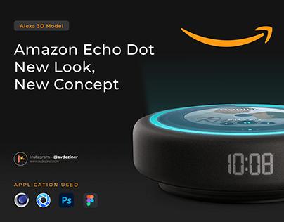 Amazon Echo Dot - 3D Model Concept