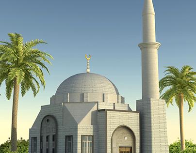 Mosque 3D Render    تصميم مسجد