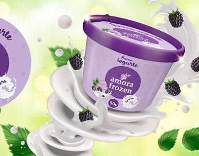 Design Embalagem Amora Frozen / Packaging Design