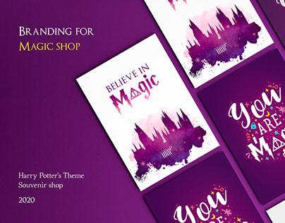 Magic shop | Branding by souvenir shop