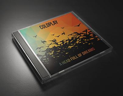 Coldplay cd cover mockup