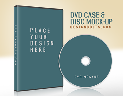 Free CD / DVD Disc Cover Mock Up PSD