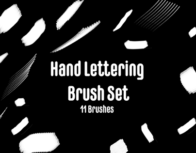 Hand Lettering Brush Set (11 Brushes)