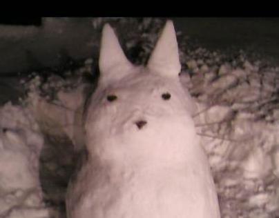 Totoro Snow Sculpture