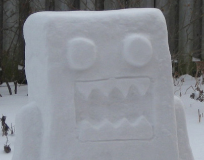 Domo-kun Snow Sculpture