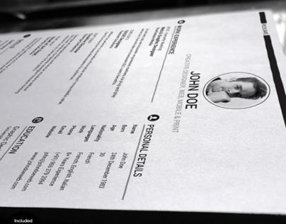 Professionally Designed Elegant Resume and Cover Letter