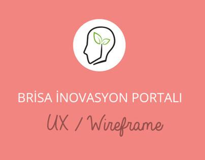 Brisa Innovation Portal Wireframe