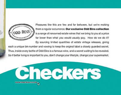 Checkers :: Odd Bins Wine