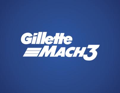 Redesenho Embalagem Gillette Mach3 | 2013