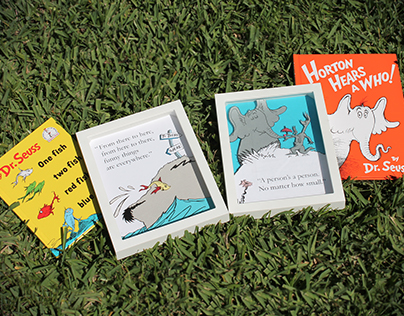 Dr. Seuss Themed Shadowboxes