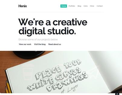 Henix: Responsive Portfolio & Blog WordPress Theme