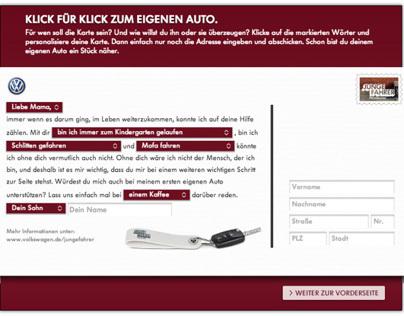 Facebook: Volkswagen - Junge Fahrer / Postkarte