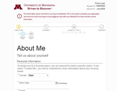 Online Housing Application