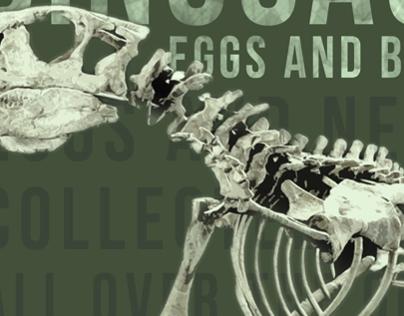 DHDC dinosaur exhibit promotional material